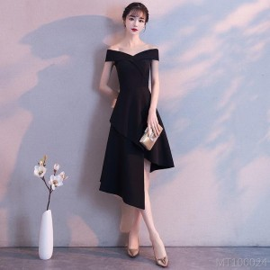 2020 new black spring women's evening dress wedding dress