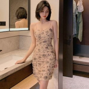 2020 new lace suspender dress one-piece mid waist H-shaped pull