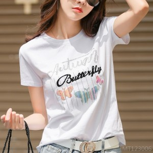 2020 new loose casual hot diamond cotton top tide ins Korean version