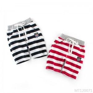 2020 new shorts striped stretch treasure five-point pants