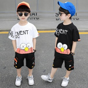 2020 new children's sports suit short sleeve t-shirt