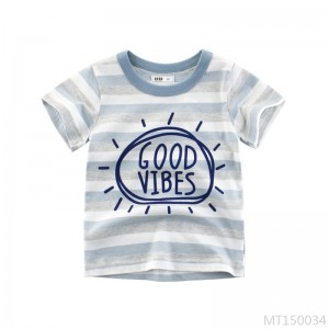2020 new summer children's short-sleeved children's clothing boys T-shirt stripes