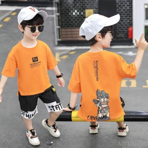 2020 new children's clothing boys summer children's sports suit