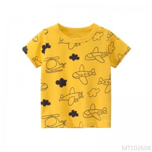 2020 new children's short-sleeved T-shirt cotton