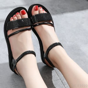 2020 new flat women's shoes ins net red student sandals