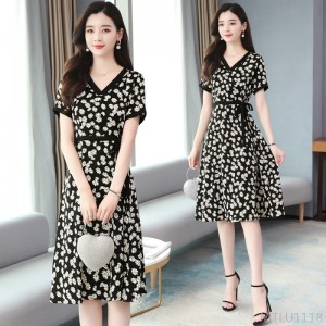 2020 new slim daisy dress zipper