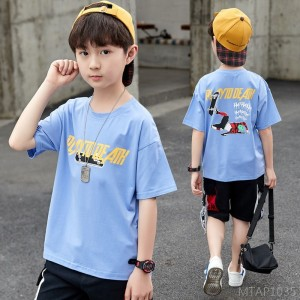2020 new boy short-sleeved t-shirt summer dress, big boy and boy casual top