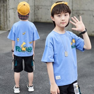 2020 new Chinese big boy Korean half-sleeved T-shirt children