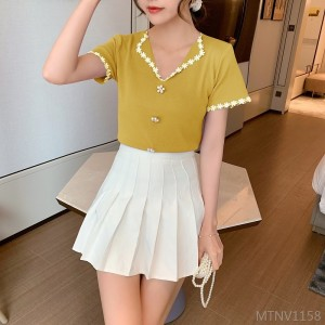 2020 New Lapel Slim Short Sleeve Pullover