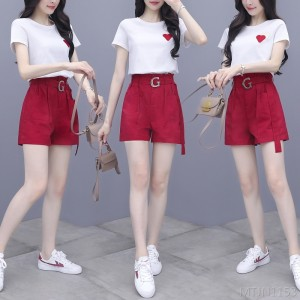 2020 new fashion fresh shorts two piece set