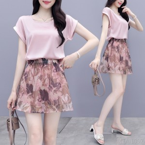 2020 new fashion two-piece casual summer dress small tall