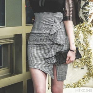 2020 new lotus leaf split lattice wild OL one-step skirt bag hip bust