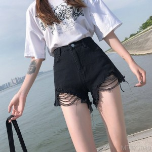 2020 new slim and versatile casual wide leg shorts