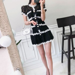 2020 new hollow lace two-piece set