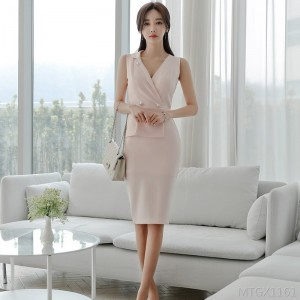 2020 new fashion elegant professional slim bag hip dress