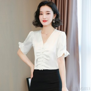 2020 new puff sleeve short-sleeved foreign professional shirt