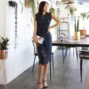 2020 new OL lace bag hip ladies slimming dress