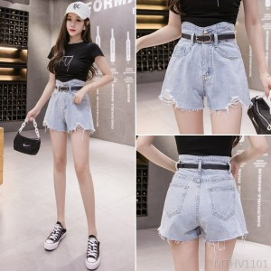 2020 new bud high waist shorts with loose edges