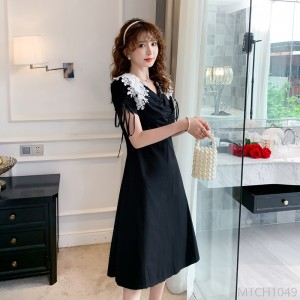 2020 new style summer v-neck bubble sleeve dress