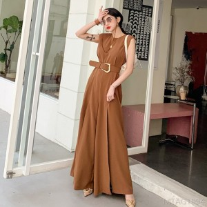 2020 new split wide leg pants fashion professional jumpsuit