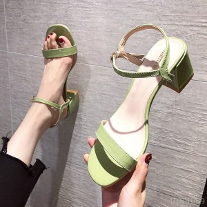 2020 new simple high heel fashion sandals