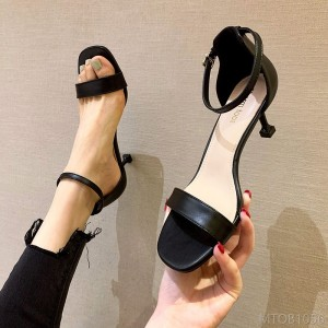 2020 new buckle sexy stiletto square heel shoes