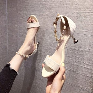 2020 New Girl Nude High Heels Women's Fine Heels