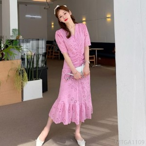 2020 new waist slimming long skirt fashion dress
