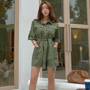 2020 new waist waist overalls fashion loose jumpsuit
