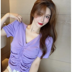 2020 New New Product Korean Fashion Simple Design Short Sleeve T-shirt