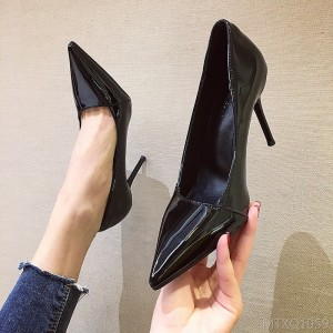 2020 new solid color sexy patent leather smooth fine heel