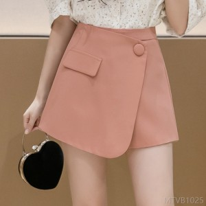 2020 new high waist was thin black loose outside wear spring and autumn a word short