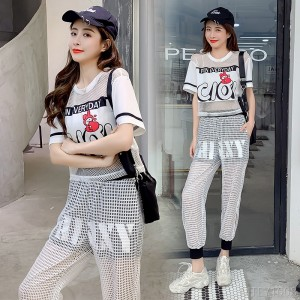2020 new fashion personality Hong Kong style two-piece suit fashion suit