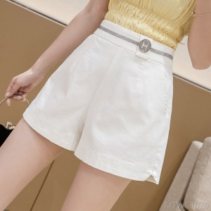 2020 new high waist elastic loose loose A-line pants fashion diamond hot pants