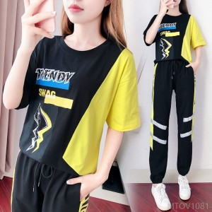 2020 new summer fashion Korean version loose loose dance clothing casual