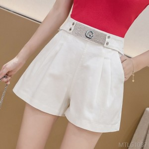 2020 new slim wide-leg diamond A-line hot pants jeans