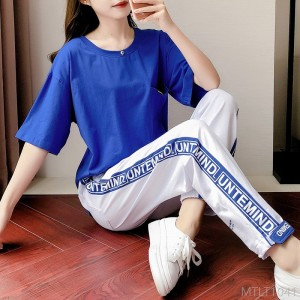 2020 new casual sports suit female summer European goods