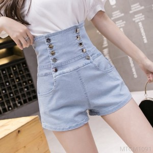 2020 new wide-leg double-breasted shorts stretch slim fit bag hip hot pants