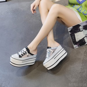 2020 new half baotou sandals female slippers female small size women's shoes