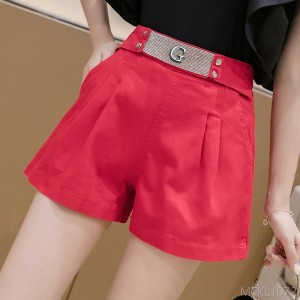 2020 new loose wide leg shorts elastic waist casual pants wide legs