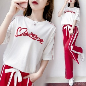 2020 new cotton sports suit women spring summer fashion
