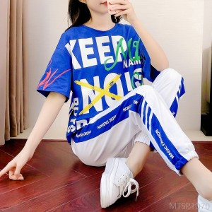 2020 new summer casual suit female summer temperament goddess fashion half sleeve