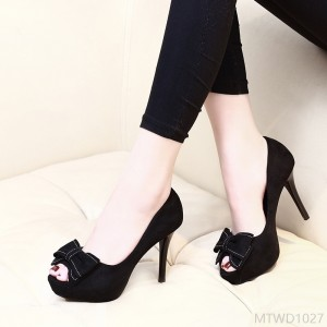 2020 new high heel women's fine heel 10CM suede waterproof platform sexy