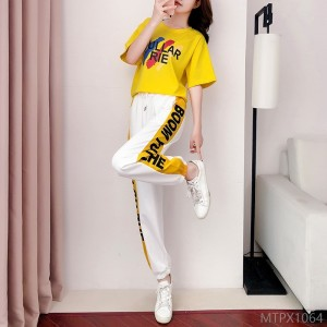 2020 new fashion slim temperament sports and leisure two-piece summer tide