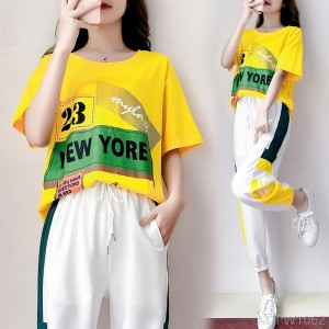 2020 new cotton casual suit female tide brand Korean version of loose fashion