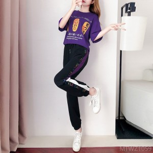 2020 new fresh suit female sweet year fashion salt and sweet leisure sports