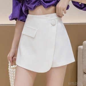 2020 new one-piece fake two-piece spring and summer Korean high waist slimming shorts