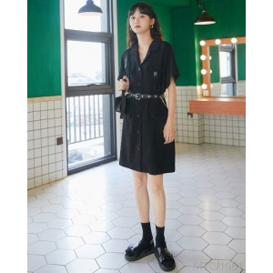 2020 new suit collar H-shaped mid-length skirt women's tide