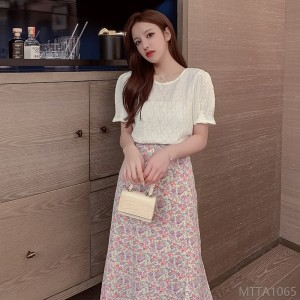 2020 new chiffon skirt suit female fashion was thin net red two-piece suit