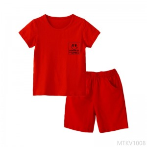 2020 new style new boys and girls cotton red suit